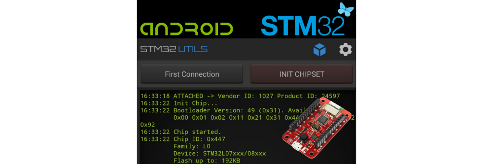Use Android to Flash STM32 BigClown Modules | BigClown