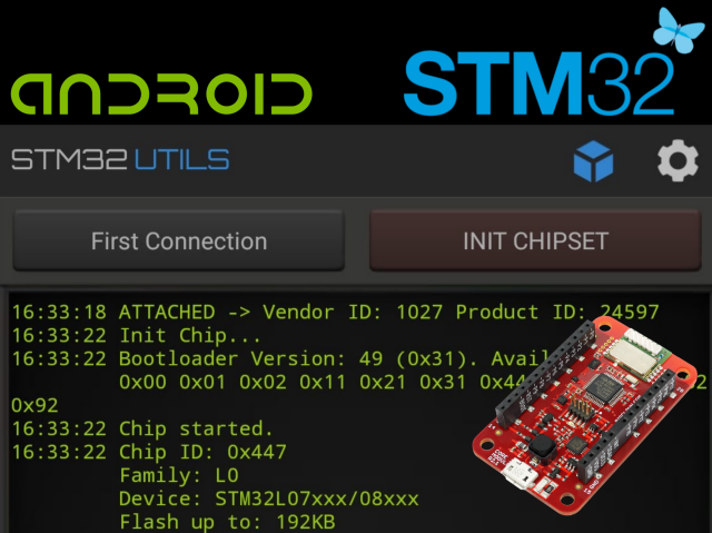 Use Android to Flash STM32 HARDWARIO Modules